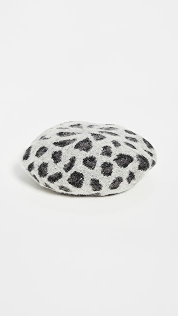 Hat Attack Knit Leopard Beret