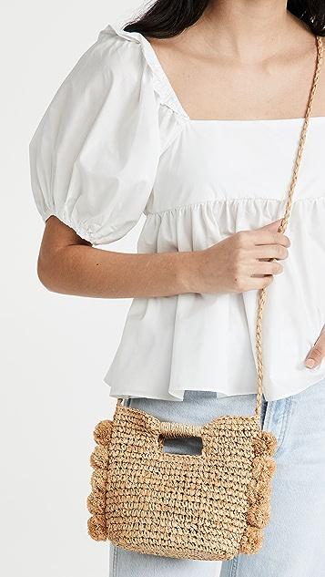 Hat Attack Mini Pom Crossbody Bag