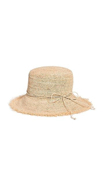 Hat Attack Packable Raffia Bucket Hat