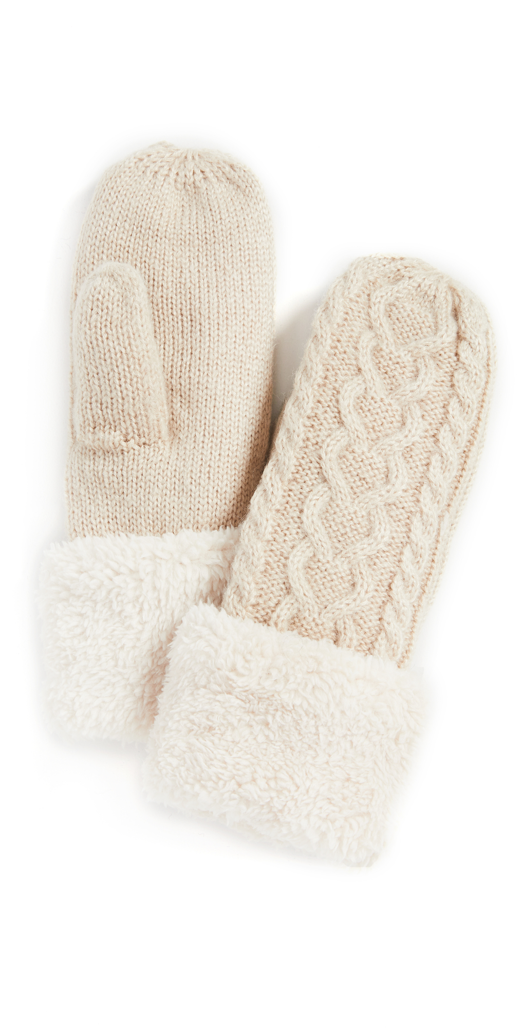 Cable Lined Mittens