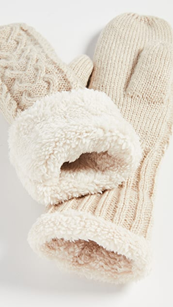 Hat Attack Cable Lined Mittens