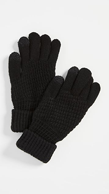 Hat Attack Lined Knit Touch Screen Gloves