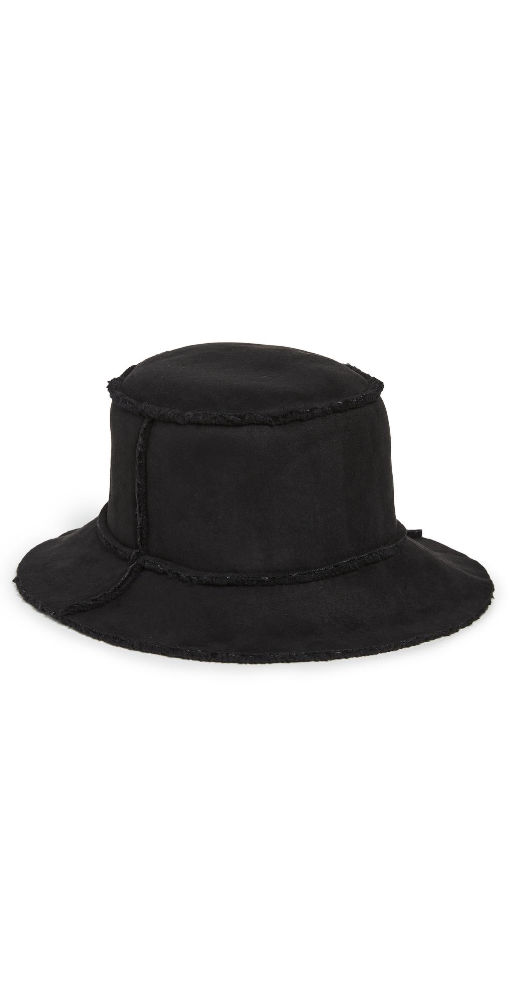 Reversible Faux Shearling Bucket Hat