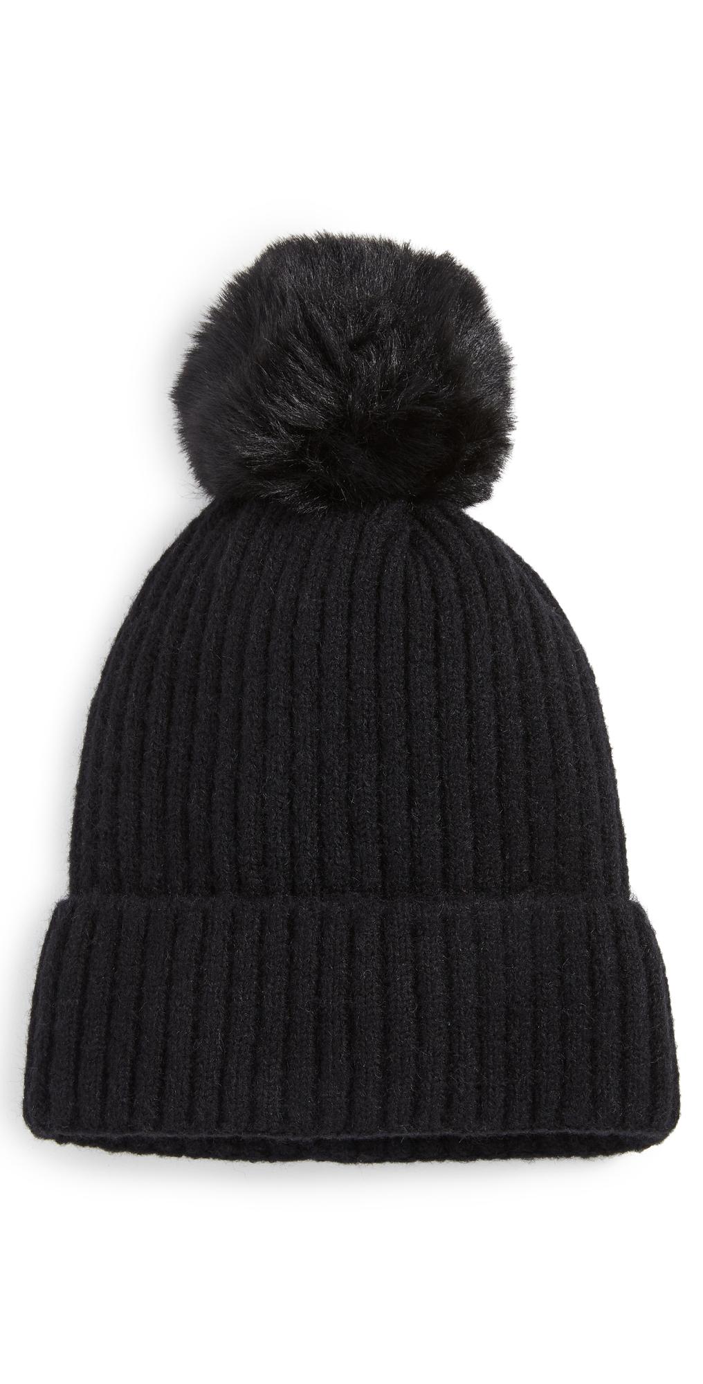 Rib Lined Pom Hat