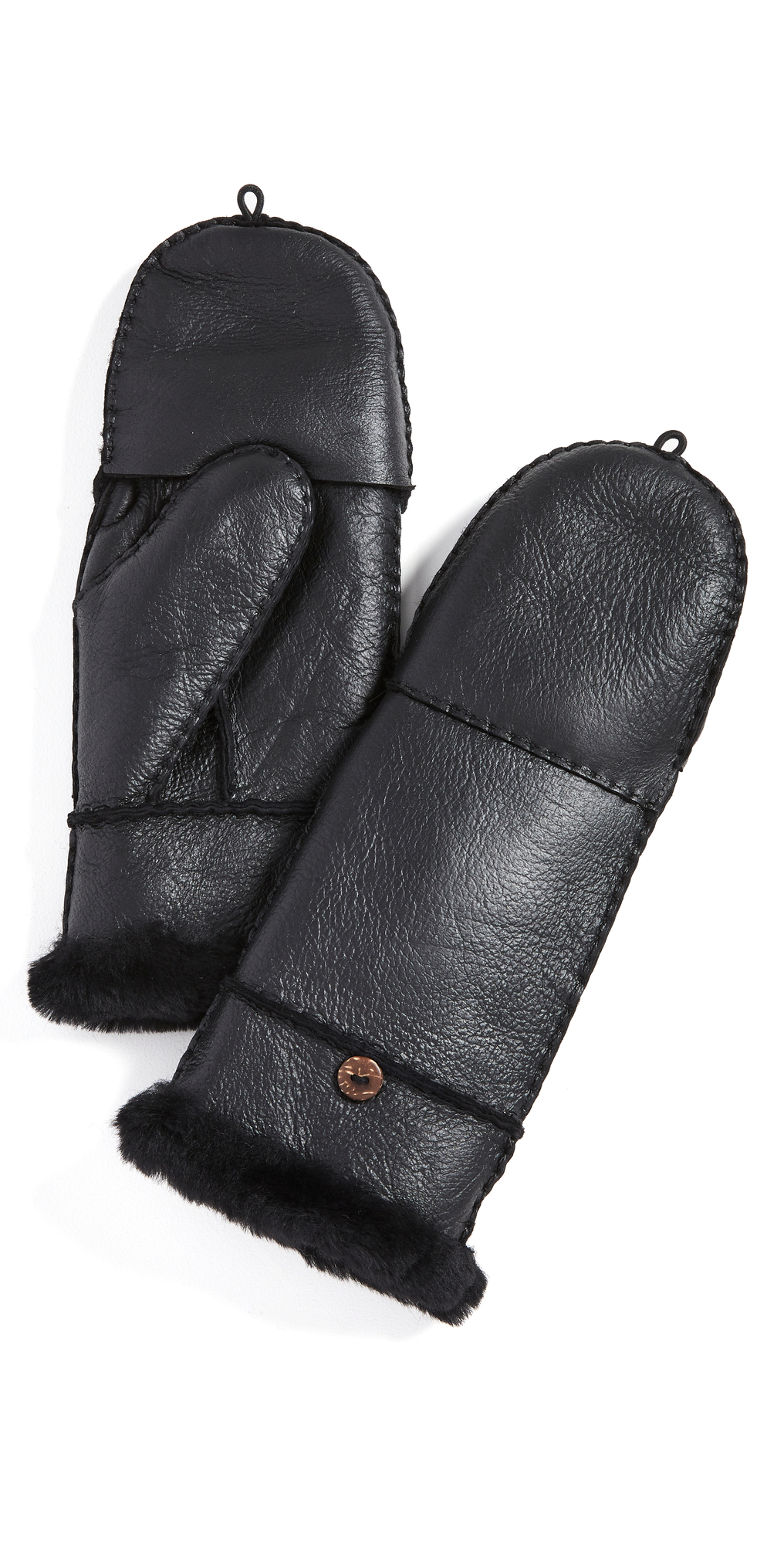 Shearling Pop Top Gloves