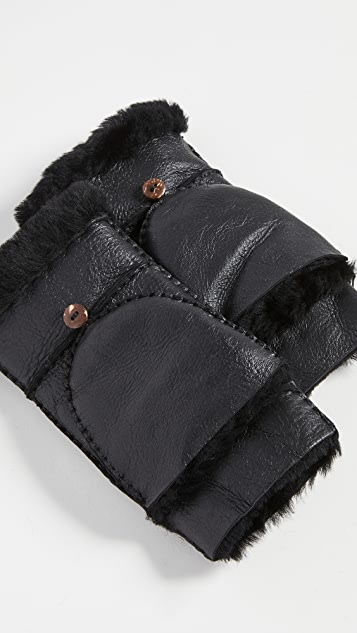 Hat Attack Shearling Pop Top Gloves
