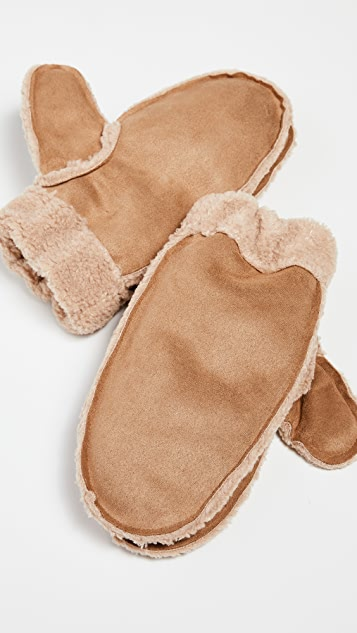 Hat Attack Cozy Faux Shearling Mitten