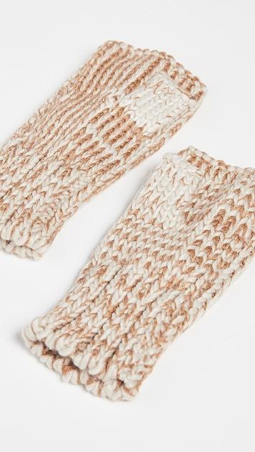 Hat Attack Tweedy Knit Fingerless Gloves