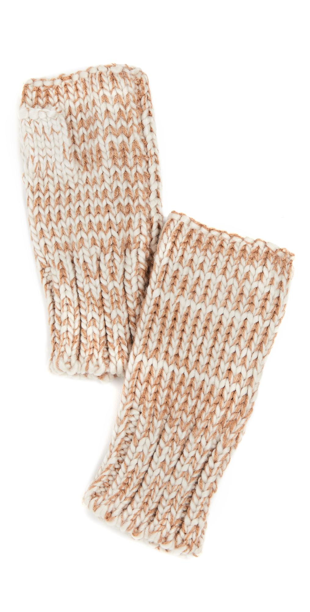 Tweedy Knit Fingerless Gloves