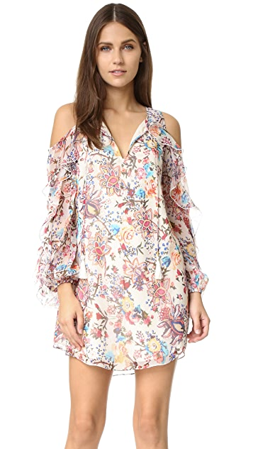 Haute Hippie Flowers in the Sun Cold Shoulder Dress ...