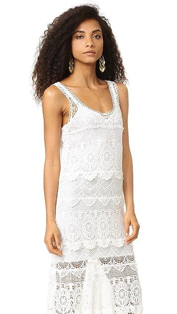 Haute Hippie Lace Layers Maxi Dress