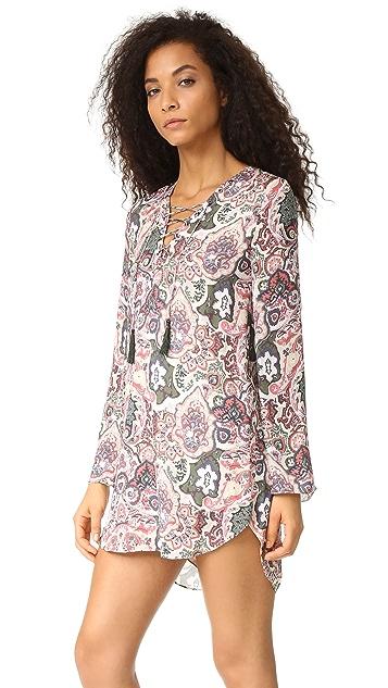 Haute Hippie Lace Up Dress