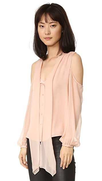 Haute Hippie Vida Cold Shoulder Top