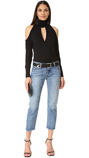 Haute Hippie Song in My Heart Cold Shoulder Blouse