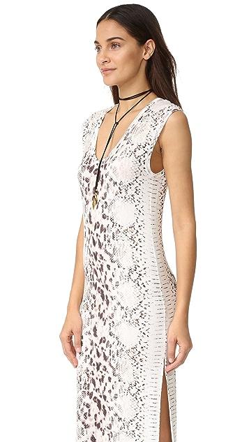 Haute Hippie V Neck Maxi Dress