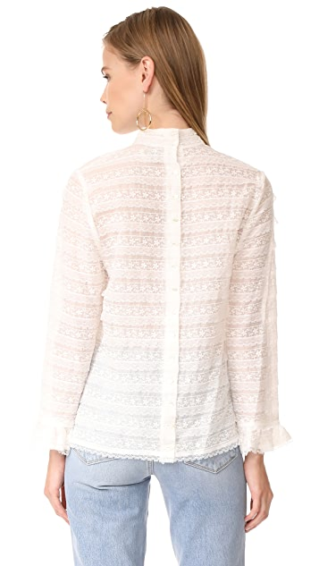 Haute Hippie Thread and Lace Blouse