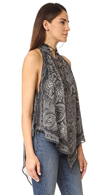 Haute Hippie Handkerchief Top