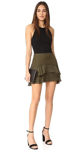 Haute Hippie Flirty Layer Skirt with Grommets