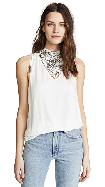 Haute Hippie Embellished Tank Top