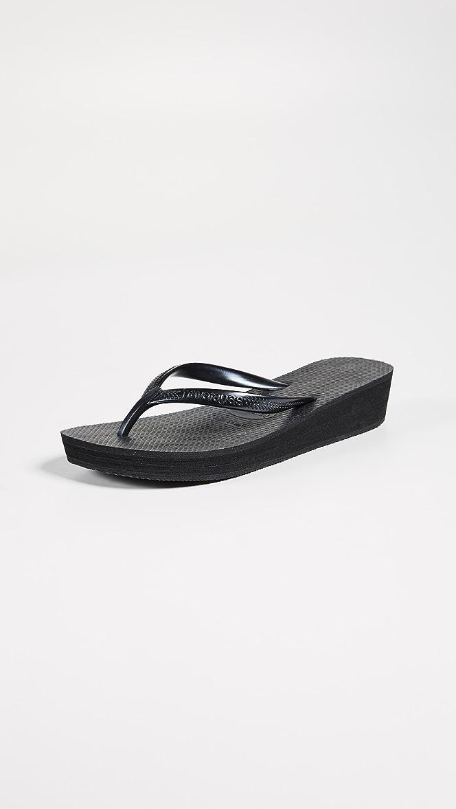 havaiana high flip flops