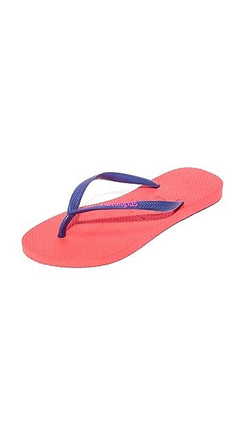 Havaianas Slim Logo Pop-Up Flip Flops