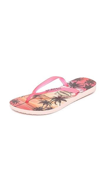 Havaianas Slim Paisage Flip Flops