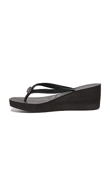 Havaianas High Fashion Poem Wedge Sandals