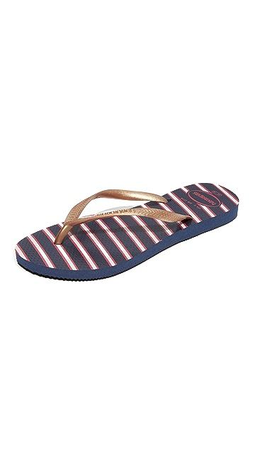 Havaianas Slim Americana Flip Flops