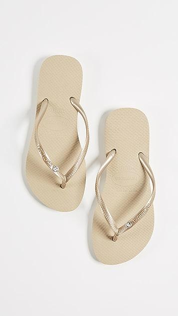 Havaianas Slim Crystal Glamour Flip Flops