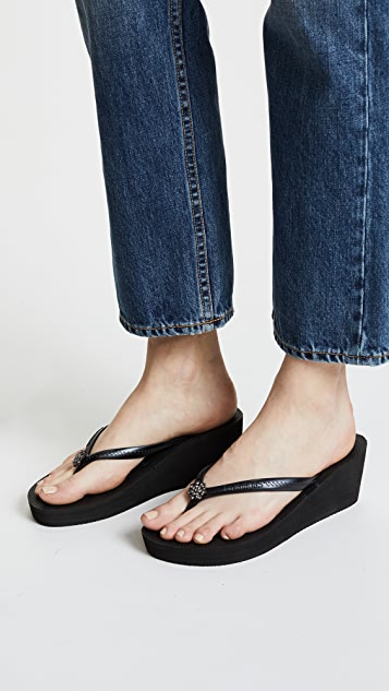 Havaianas High Fashion Poem Wedge Sandals