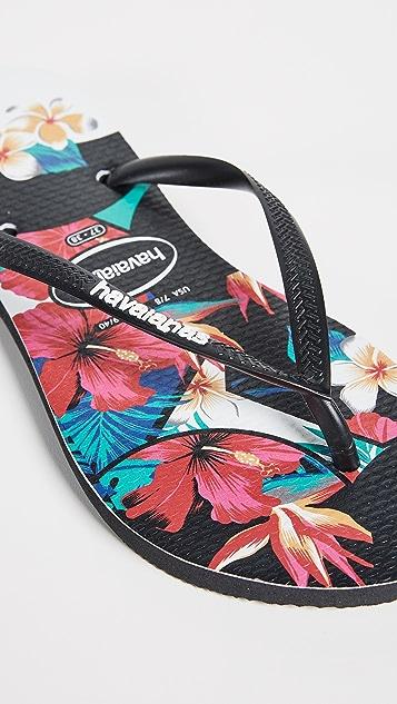 Havaianas Slim Tropical Flip Flops