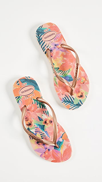 HAVAIANAS Slim Tropical Flip Flops cheap many kinds of cheap sale newest cheap sale low shipping jpmMKQCd