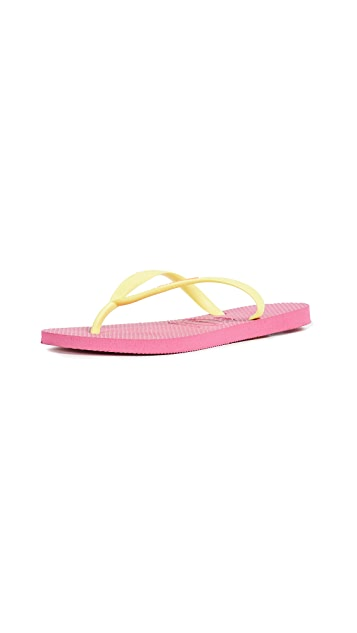 Havaianas Slim Logo Pop Up Flip Flops