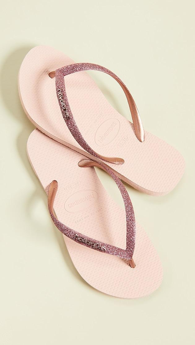 havaianas slim glitter ballet rose