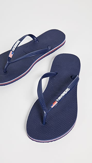 Havaianas Slim USA Logo Flip Flops