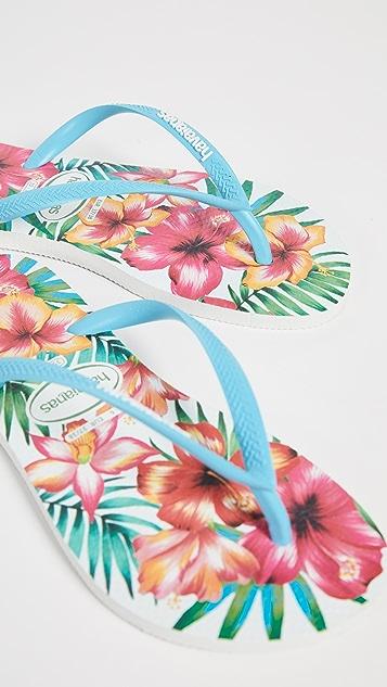 Havaianas Узкие вьетнамки Hibisco