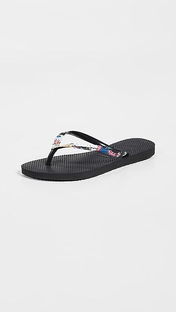 08afe9adac9b Havaianas Slim Tropical Strap Flip Flops