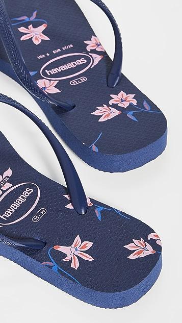 Havaianas Тонкие вьетнамки с цветочным рисунком