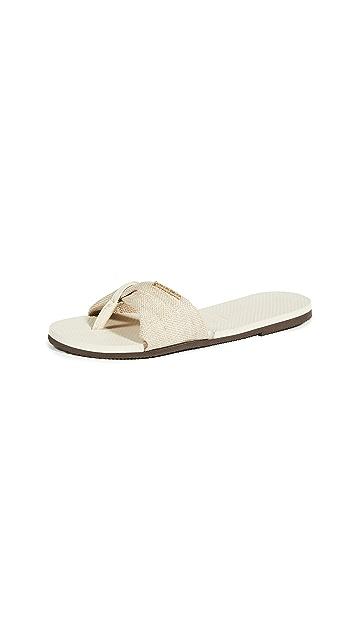 Havaianas You St. Tropez Material Flip Flops