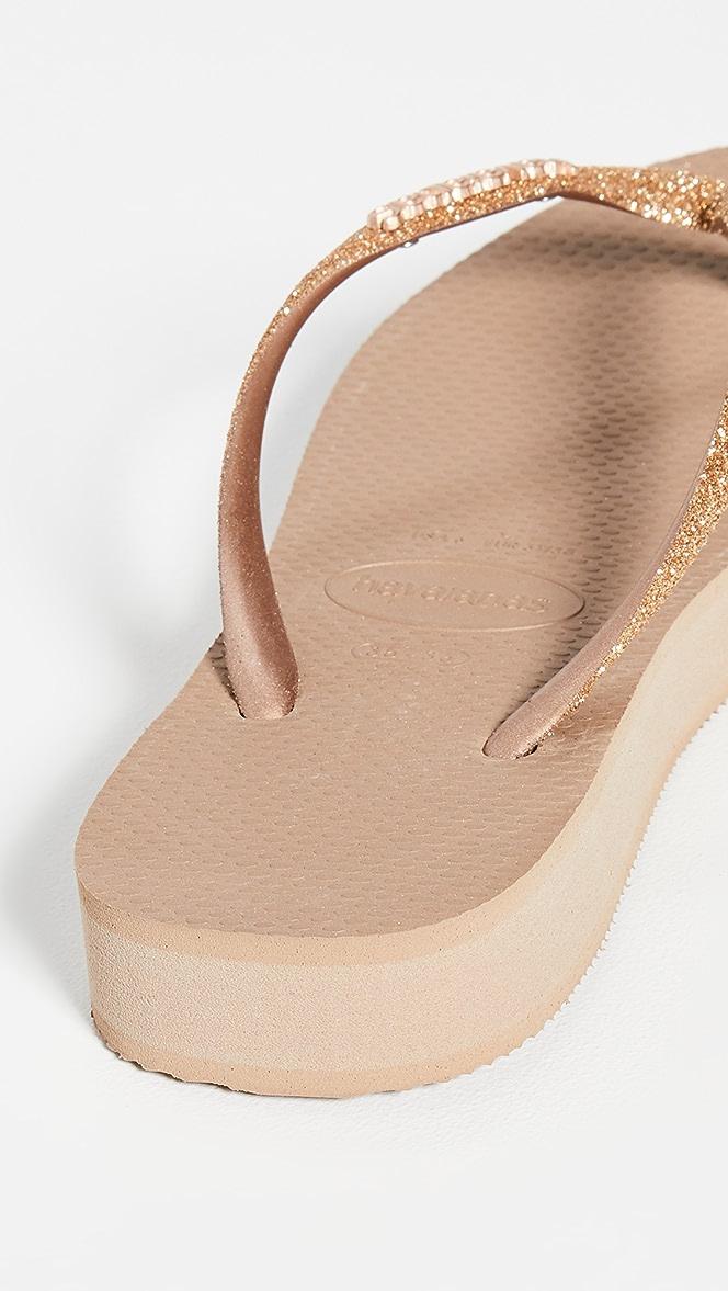 Havaianas Slim Flatform Glitter Sandals