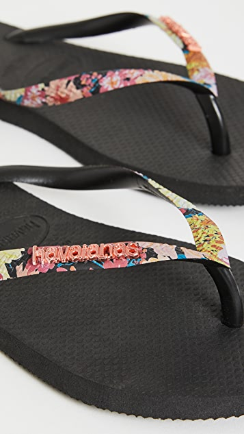 Havaianas 细绑带夹趾凉鞋
