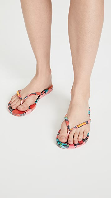 Havaianas 夏日风格窄版夹趾凉鞋
