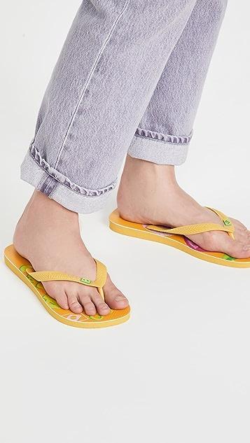 Havaianas x FARM Rio Oranges 凉鞋