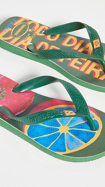 Havaianas x FARM Rio Limes Sandals