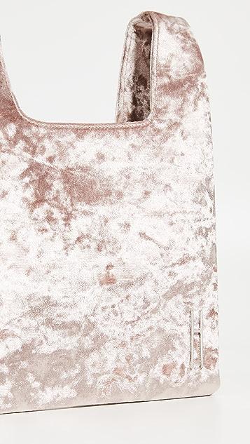Hayward Миниатюрная сумка-шоппер из мятого бархата