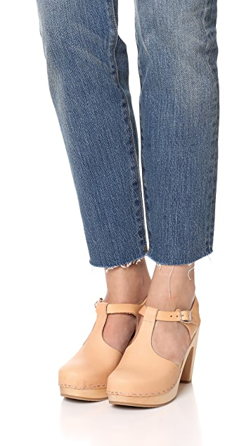 Swedish Hasbeens T Strap Sky High Sandals