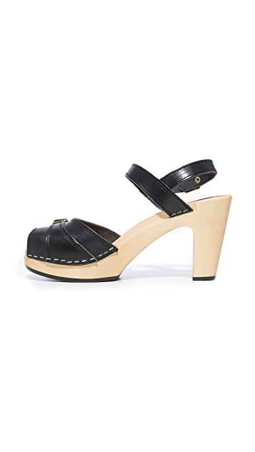 Swedish Hasbeens Preppy Sky High Sandals