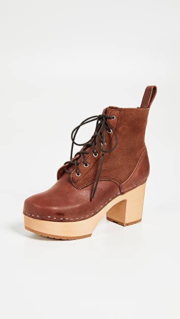 Swedish Hasbeens Hippie Lace Up Boots