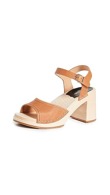 Swedish Hasbeens Inger 粗跟木底鞋