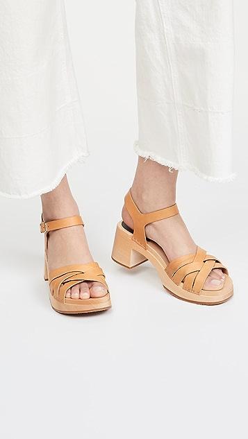 Swedish Hasbeens Katja 高帮木底鞋